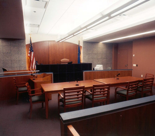 Lighthouse Electric | Allegheny County Family Courts | Typical Courtroom