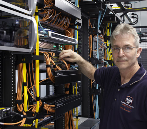Lighthouse Electric | Undisclosed Data Center 2 | Lighthouse Technician at Optical Patch Panel
