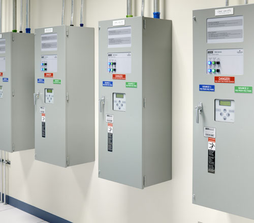 Lighthouse Electric | Undisclosed Data Center 2 | ASCO Automatic Transfers Switches for Normal/Critical Load Transfer